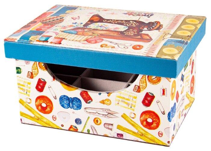 Шкатулка Русские подарки для рукоделия 84331 24x17x13 см