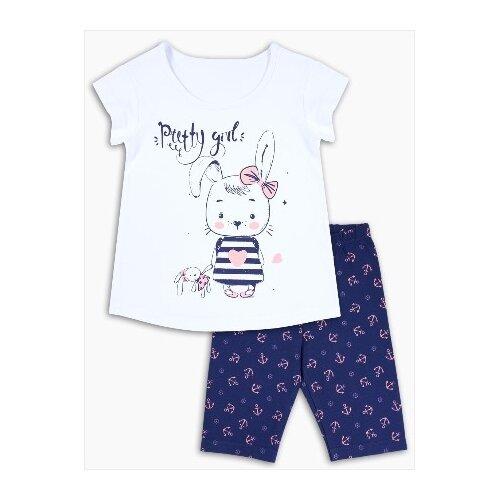 Пижама Веселый Малыш размер 104, белый/синий пижама веселый малыш размер 104 розовый