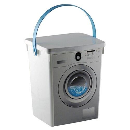 ПОЛИМЕРБЫТ Контейнер для стирального порошка 5л белый ведро plast team для стирального порошка 4 5 л
