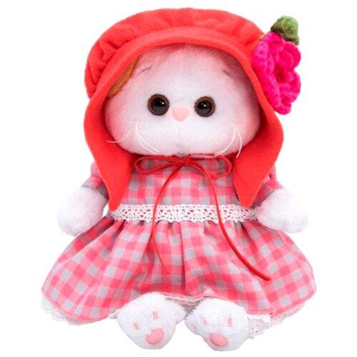 Купить Мягкая игрушка Basik&Co Кошка Ли-Ли baby в красной шапочке 20 см, Мягкие игрушки