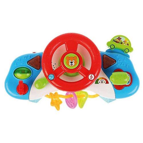 Купить Подвесная игрушка Умка Развивающий руль (1411M225-R) разноцветный, Подвески