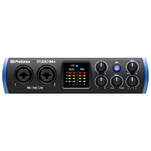 Внешняя звуковая карта PreSonus Studio 24c аудиоинтерфейс presonus studio 26c