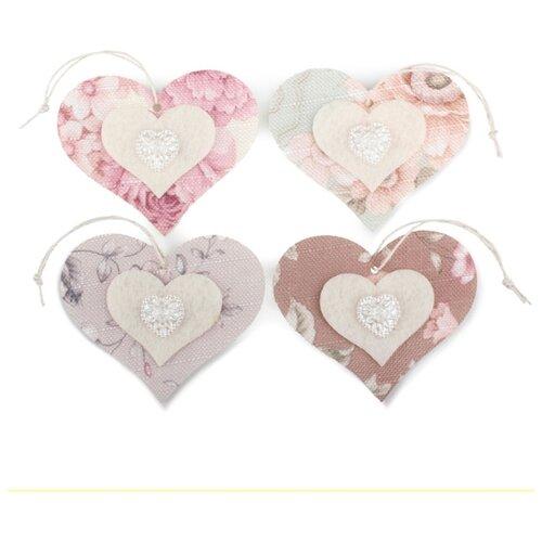 Купить Набор декоративных элементов Сердце 80 х 70 мм, Efco, Украшения и декоративные элементы