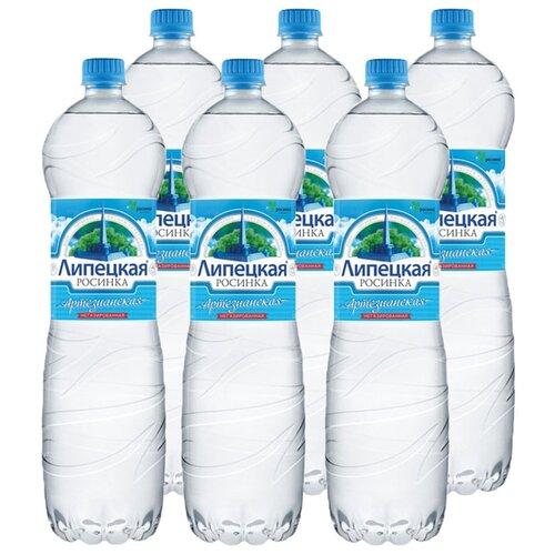 Вода питьевая артезианская первой категории Липецкая-Лайт негазированная, ПЭТ, 6 шт. по 1.5 лВода<br>