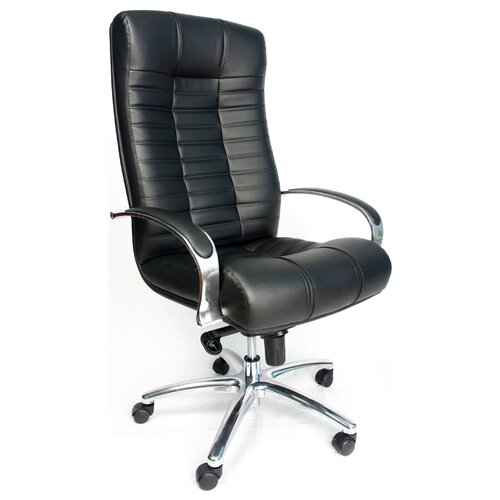 Фото - Компьютерное кресло Everprof Atlant AL M для руководителя, обивка: натуральная кожа, цвет: черный компьютерное кресло everprof drift m для руководителя обивка натуральная кожа цвет коричневый
