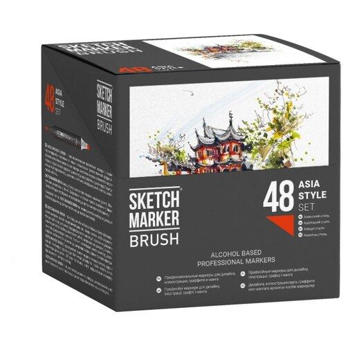 SketchMarker Набор маркеров Brush Asia style, 48 шт недорого