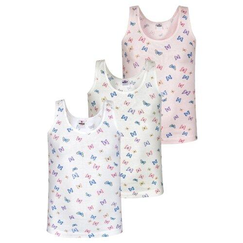 Купить Майка BAYKAR 3 шт., размер 110/116, белый/молочный/розовый, Белье и купальники