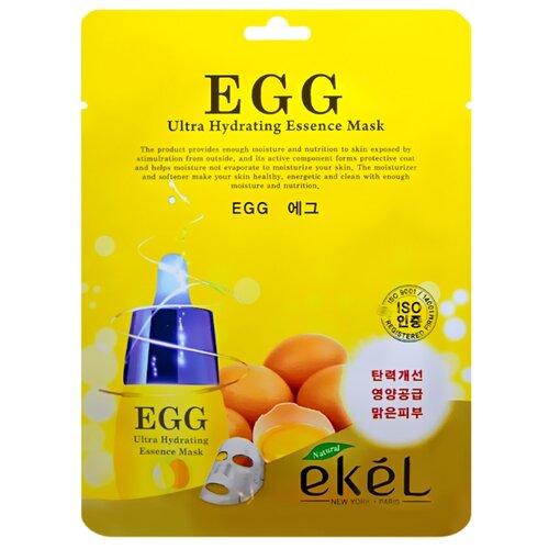Ekel Egg Ultra Hydrating Essense Mask Тканевая маска с экстрактом яичного желтка, 25 мл phyto therapy mask тканевая маска с алоэ противовоспалительная sheet aloe polyphenol moisturizing