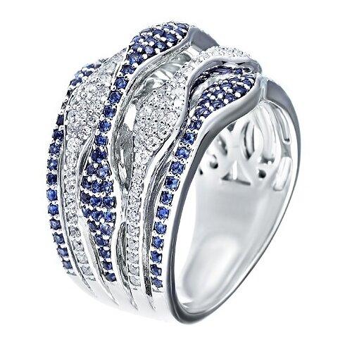 Фото - JV Серебряное кольцо с кубическим цирконием DM0320R-KO-001-WG, размер 18 jv серебряное кольцо с кубическим цирконием dm0026r ko 001 wg размер 18
