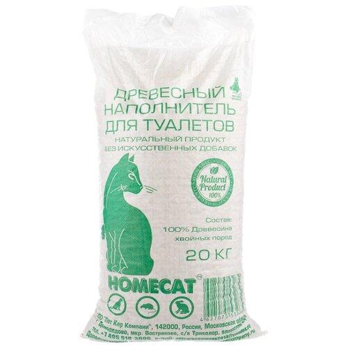Наполнитель Homecat Древесный мелкие гранулы (20 л/8кг) homecat homecat древесный впитывающий наполнитель с мелкими гранулами 16 л