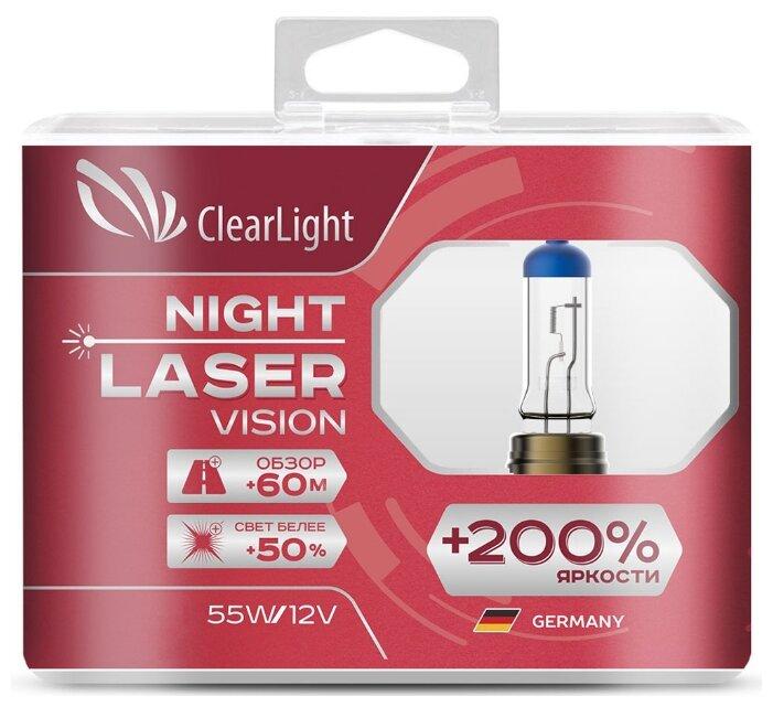 Лампа автомобильная галогенная ClearLight Night Laser Vision MLH7NLV200 H7 55W 2 шт. — цены на Яндекс.Маркете