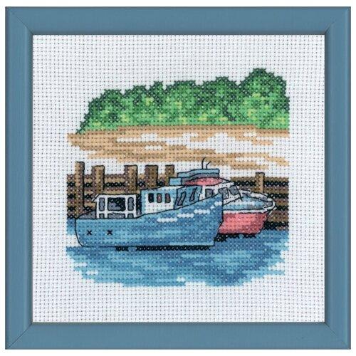 Набор для вышивания Синие моторные лодки