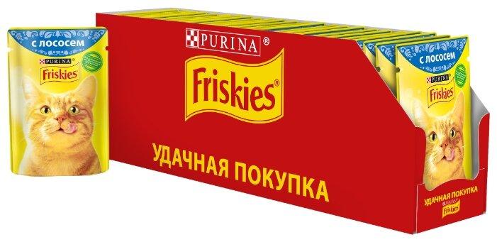 Корм для кошек Friskies с лососем 85 г (кусочки в соусе)