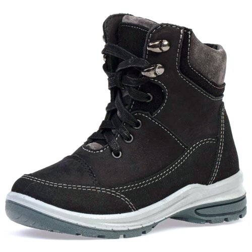 Ботинки КОТОФЕЙ размер 30, черный/серый
