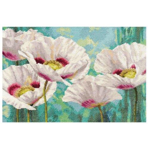 Купить Алиса Набор для вышивания крестиком Белые маки 40 х 27 см (2-38), Наборы для вышивания