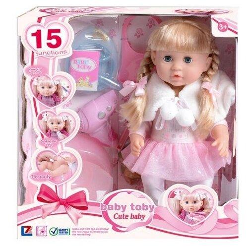 Фото - Интерактивная кукла Shantou Gepai Baby toby Cute baby 40 см 200219704 машины shantou gepai катер электронный 40 см
