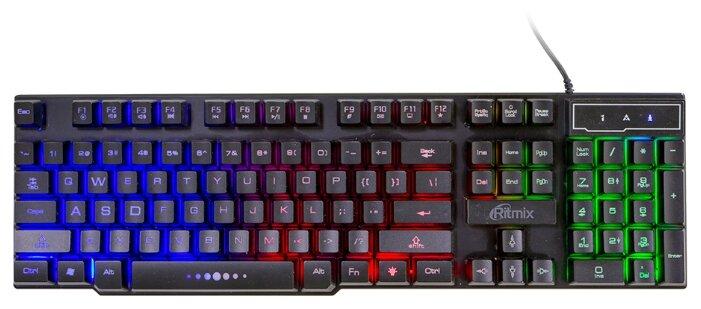 Клавиатура Ritmix RKB-200BL Black USB — купить по выгодной цене на Яндекс.Маркете
