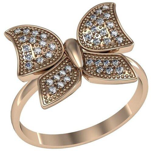 Фото - Приволжский Ювелир Кольцо с 42 фианитами из серебра с позолотой 262426-FA11, размер 19 приволжский ювелир кольцо с 65 фианитами из серебра с позолотой 252119 fa11 размер 19 5