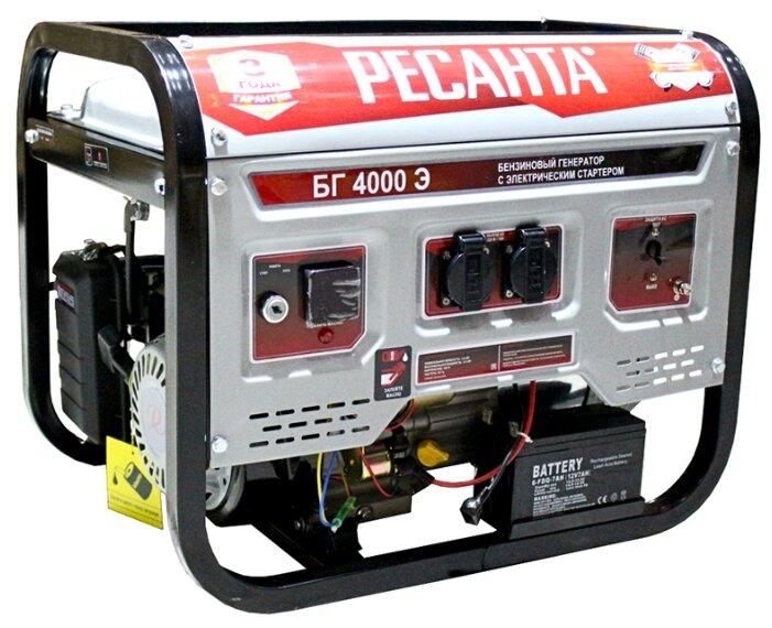 Бензиновый генератор РЕСАНТА БГ 4000 Э (3000 Вт)