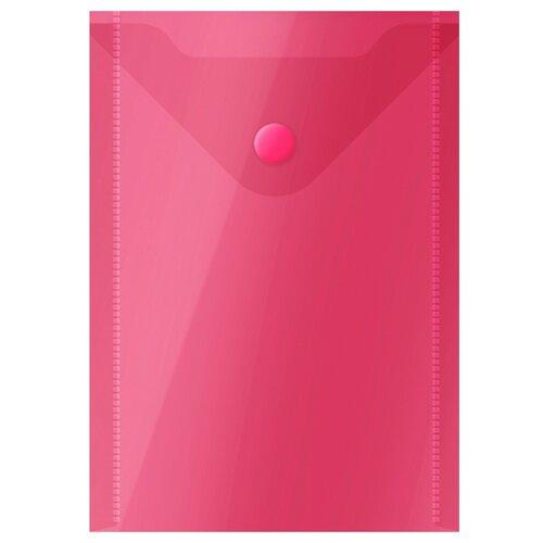 Купить OfficeSpace Папка-конверт на кнопке А6, пластик 150 мкм красный, Файлы и папки