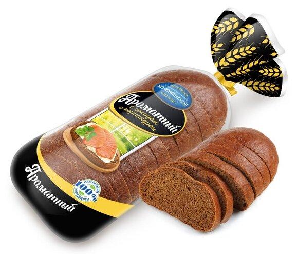 Коломенское Хлеб Ароматный пшеничный с ржаным солодом и кориандром в нарезке 400 г