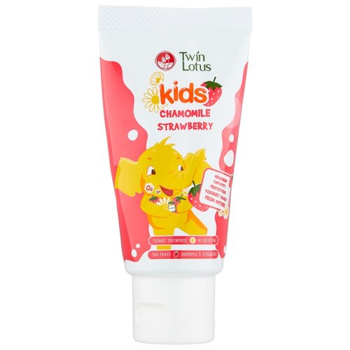 Купить Зубная паста Twin Lotus Kids клубника и ромашка 3-10 лет, 50 г, Гигиена полости рта