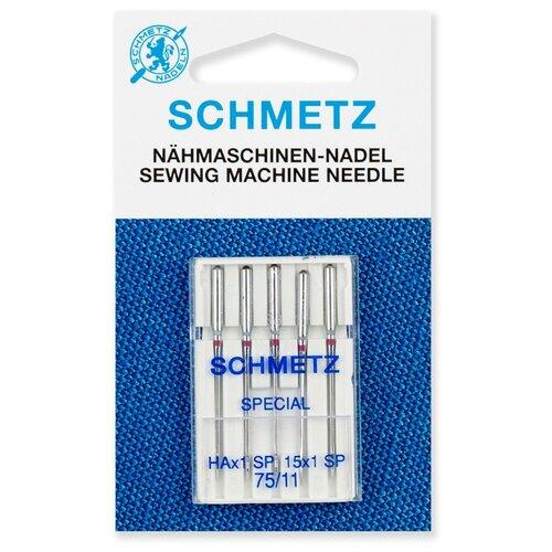 Игла/иглы Schmetz Super Stretch Special 130/705 НAx1 SP 75/11 серебристый игла иглы organ super stretch 75 серебристый