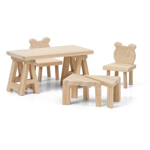 Купить Lundby Набор мебели для кукольного домика Сделай сам Стол и стулья (LB_60906400) натуральный, Мебель для кукол