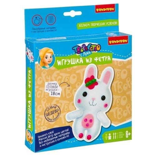 Купить BONDIBON Набор для шитья игрушки из фетра Зайчик (ВВ3809), Изготовление кукол и игрушек