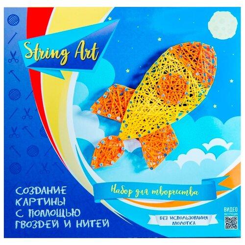 Купить String Art Lab Набор для творчества Ракета (П003), Поделки и аппликации