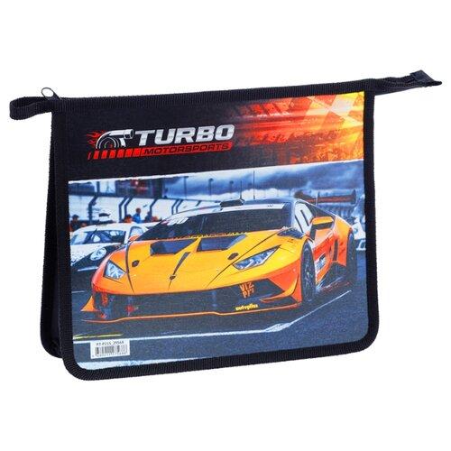 Купить ArtSpace Папка для тетрадей Turbo А5, на молнии, пластик-картон черный, Файлы и папки
