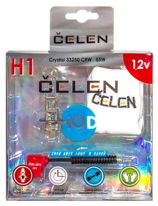 Лампа автомобильная галогенная CELEN HOD Crystal +50% 33250 CRW H1 12V 55W 1 шт.