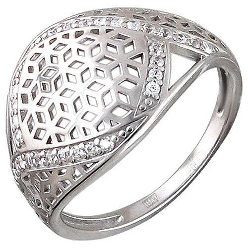 Эстет Кольцо с 30 фианитами из серебра 01К1510490, размер 17.5 ЭСТЕТ