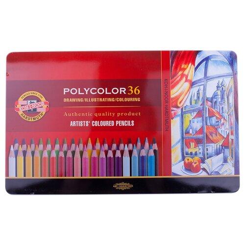 Купить KOH-I-NOOR Карандаши цветные Polycolor, 36 цветов (3825036002PL), Цветные карандаши