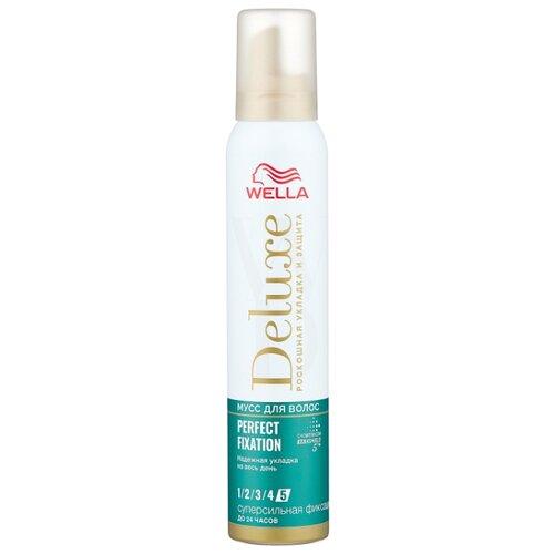 Wella Deluxe мусс для волос Perfect Fixation, 200 мл