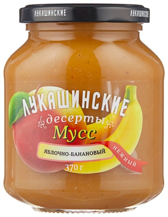 Мусс Лукашинские яблочно-банановый, банка 370 г