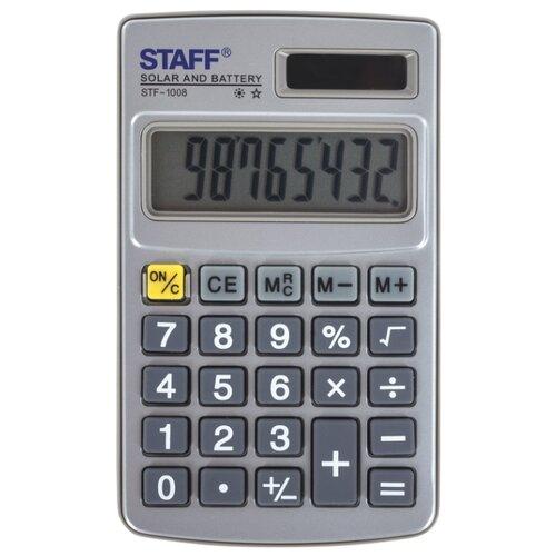 Купить Калькулятор карманный STAFF STF-1008 серый