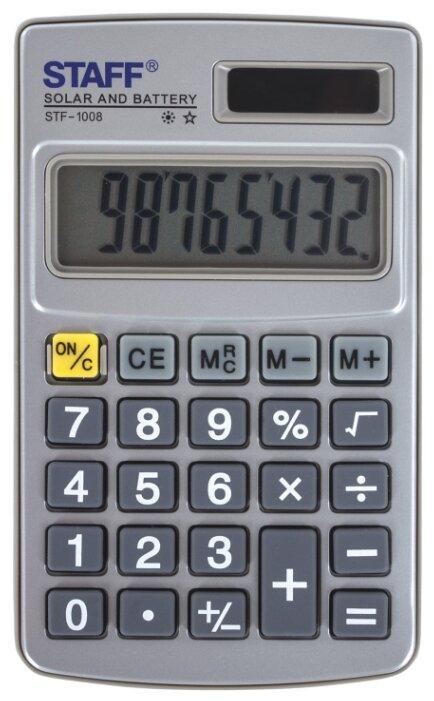 Калькулятор карманный STAFF STF-1008