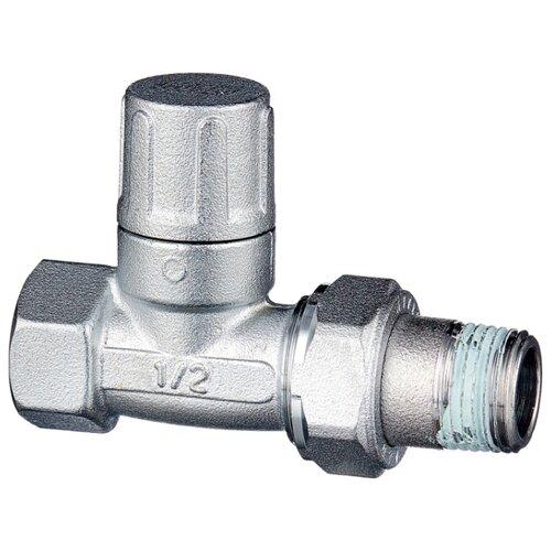 Фото - Запорный клапан FAR FV 1400 муфтовый (ВР/НР), латунь, для радиаторов Ду 15 (1/2) запорный клапан far ft 1616 муфтовый нр нр латунь для радиаторов ду 15 1 2