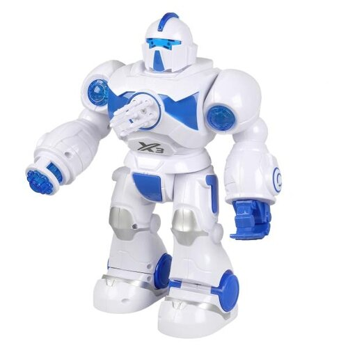 Купить Робот Технодрайв Роботрон 1801B082R, белый/синий, Роботы и трансформеры