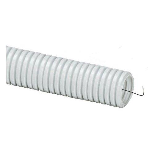 Труба гофрированная ПВХ с зондом TDM ЕLECTRIC 25 мм x 75 м серый серый труба пвх tdm еlectric sq0401 0001 16 мм x 100 м серый ral 7035