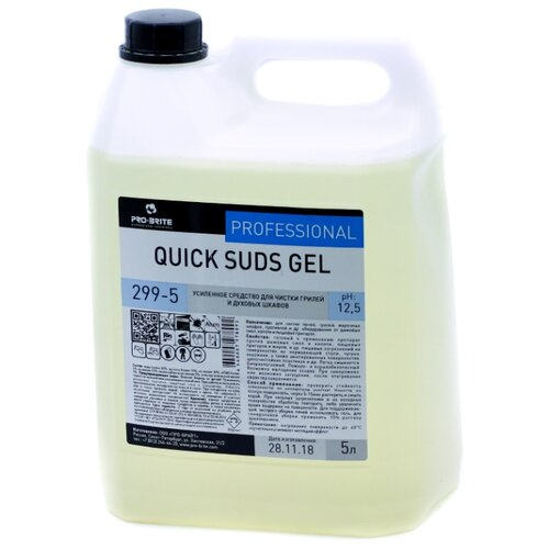 Усиленное средство для чистки грилей и духовых шкафов Quick Suds Gel Pro-Brite 5000 мл