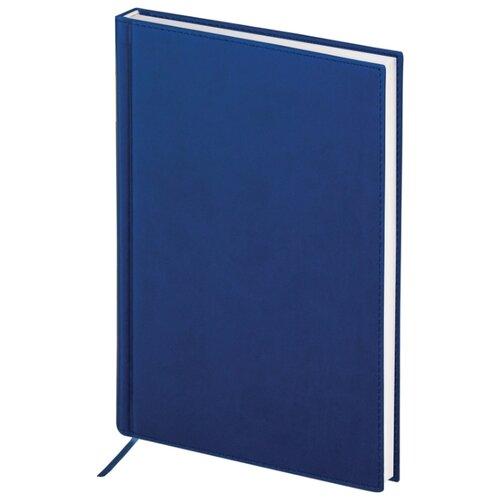 Ежедневник BRAUBERG New York полудатированный, искусственная кожа, А5, 192 листов, синий ежедневник brauberg new york а5 192 листа