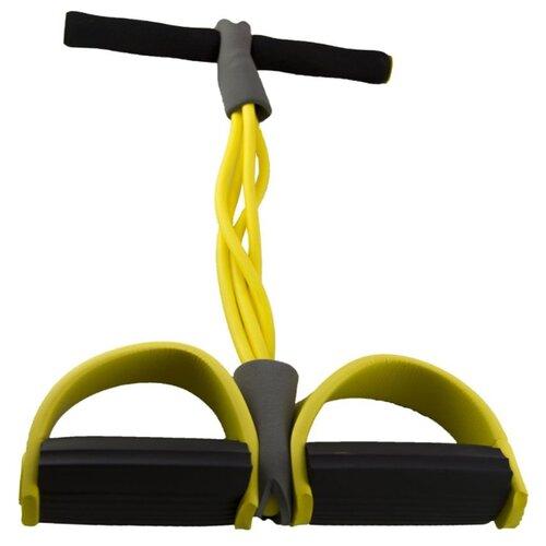 Эспандер ножной ATEMI ACE04 28.5 х 15 см черный/желтый эспандер sadko tiptop 4 желтый