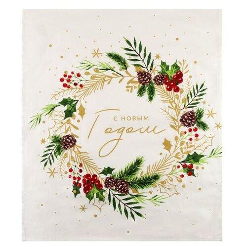 Этель полотенце С Новым Годом 5135219 кухонное 46х60 см белый