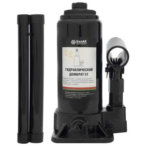 Домкрат бутылочный гидравлический БелАвтоКомплект БАК.00042 (5 т) черный домкрат бутылочный гидравлический белавтокомплект бак 10039 2 т черный