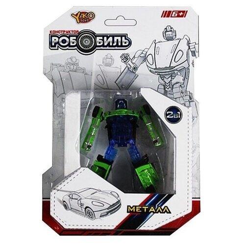 Купить Трансформер Yako РобоБиль M6695 синий/зеленый, Роботы и трансформеры