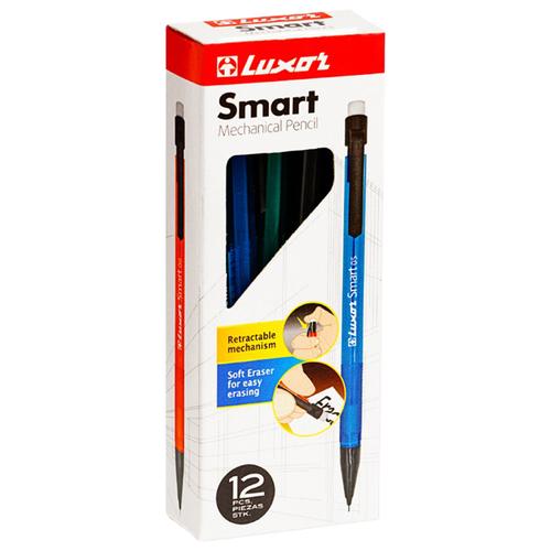 Купить Luxor Набор механических карандашей Smart Slim HB, 0, 7 мм, 12 шт., Механические карандаши и грифели