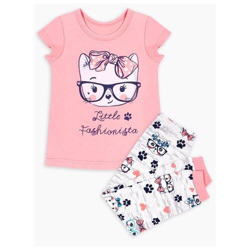Пижама Веселый Малыш размер 122, серый меланж/синий/розовый пижама веселый малыш размер 122 белый розовый