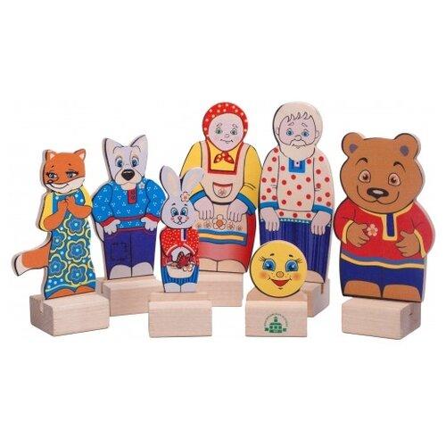 Краснокамская игрушка Набор персонажей сказки Колобок игрушка